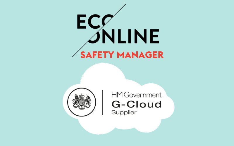 Graphic with EcoOnline logo and G-Cloud logo